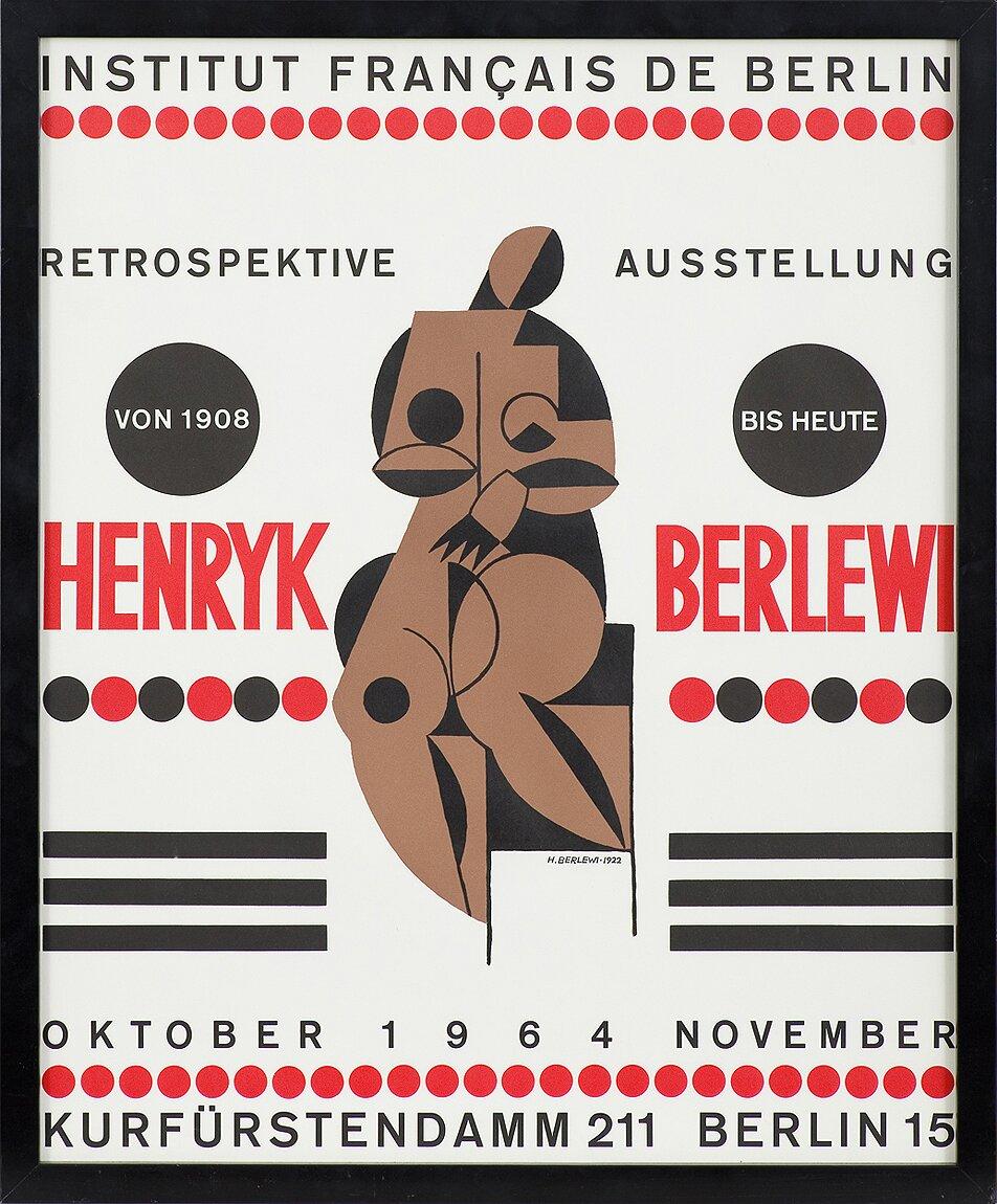 Henryk Berlewi – PLAKAT AUTORSKI WYSTAWY H. BERLEWIEGO