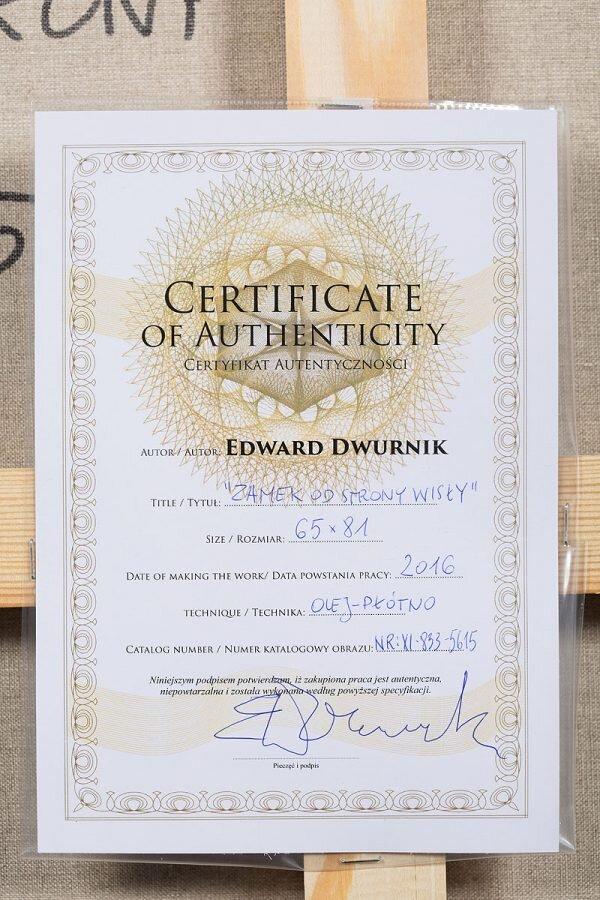 Edward Dwurnik - Certyfikat